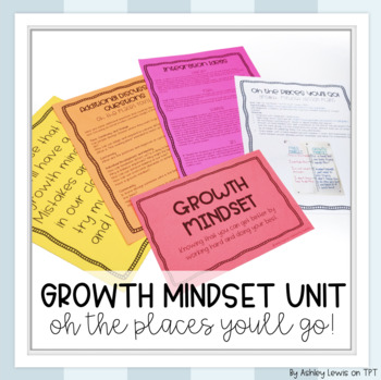 """""""Oh the Places You'll Go"""" Growth Mindset Unit"""