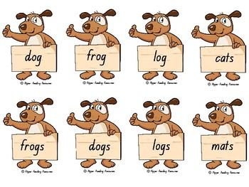 """Oi Dog!"" Rhyming words cards for games"