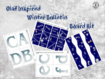 'Olaf Inspired' Bulletin Board Kit