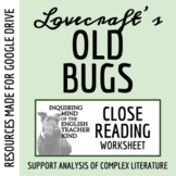 """""""Old Bugs"""" by H.P. Lovecraft - Guided Reading of Short Story with Text"""