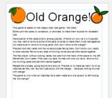 """Old Orange"" rhyming/word family card game"