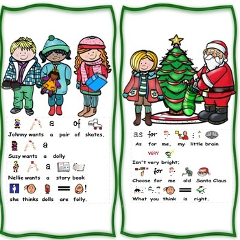 """""""Old Saint Nicholas """" Differentiated Book, Christmas Interactive, Circle Time"""