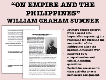 """""""On Empire & the Philippines"""" - William Graham Sumner - Imperialism - USH/APUSH"""