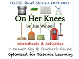 """IGCSE Short Stories: """"On Her Knees"""" by Tim Winton (Story,"""