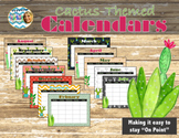 """On Point"" Cactus-themed Calendars (Editable)"