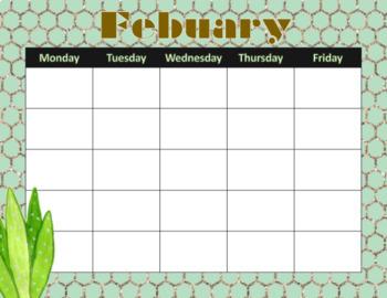 """""""On Point"""" Cactus-themed Calendars (Editable)"""