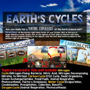 Earth's Cycles PowerPoint - Interactive