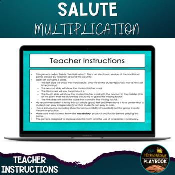 Math Games: Salute Multiplication