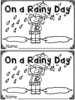 """""""On a Rainy Day"""" (A Spring Emergent Reader Dollar Deal)"""