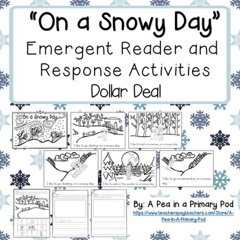 """On a Snowy Day"" Emergent Reader (A Winter/December/January Dollar Deal)"