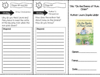 """""""On the Banks of Plum Creek"""" Comprehension Trifold (Storytown Lesson 6)"""