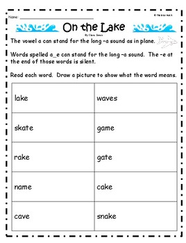 """""""On the Lake"""" Guided Reading Program Work"""