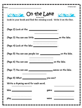 """On the Lake"" Guided Reading Program Activities"
