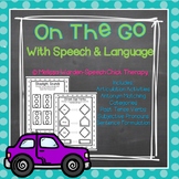 """On the Go"" Transportation Themed Speech Therapy Activities"