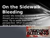 """""""On the Sidewalk Bleeding"""" by Evan Hunter Powerpoint Prese"""