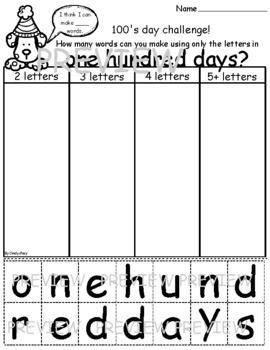 'One Hundred Days' Spelling Challenge