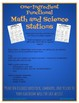 """""""One-Ingredient"""" Functional Math and Science Stations"""