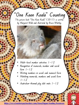 """One Keen Koala"" counting and number activities - 100 pages!!!"