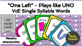 'One Left' Card Game - VCe Words (Plays Like UNO) | Phonics Game