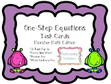 **One-Step Equations Task Cards with Recording Sheet and A