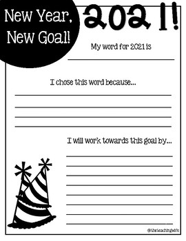 """""""One Word"""" New Years' Resolution"""