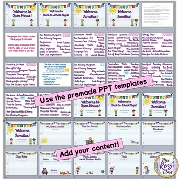 Back to School Slideshow or Parent Night Presentation or Open House Editable PPT