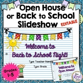 Open House or Back to School Slideshow - Parent Night Presentation EDITABLE!