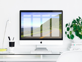 """Open Road"" Desktop Organizer (customizable)"