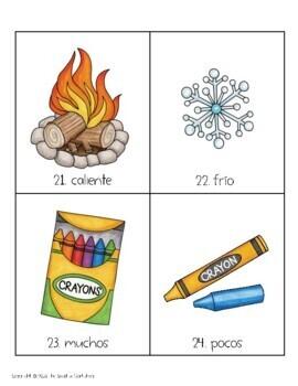 """Spanish """"Opposites"""" Mini-Lesson & Memory Cards!"""