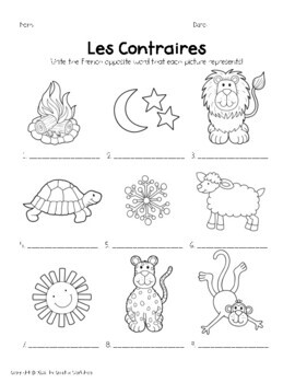 """""""Opposites"""" in French!"""