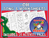 Or Worksheets and Song   -or Words    NO PREP - HeidiSongs