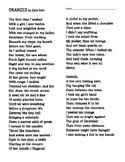 """Oranges"" by Gary Soto - Poem"