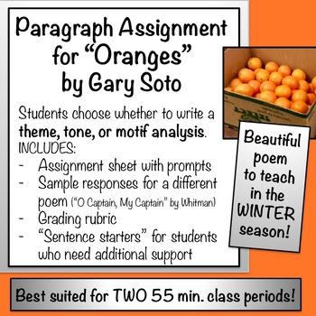 """""""Oranges"""" by Gary Soto - Theme, Tone, or Motif Analysis"""