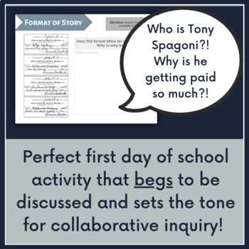 """Ordeal by Cheque"" First Day Inferencing Activity"