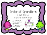 **Order of Operations PEMDAS Task Cards with Recording She