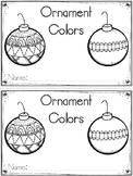 """Ornament Colors"" Emergent Reader (A Christmas/December Dollar Deal)"