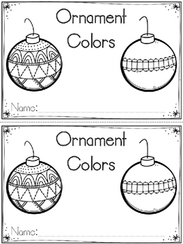 """Ornament Colors"" Emergent Reader (A Christmas/December Do"