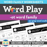 -Ot Word Family Worksheets No Prep Short Vowel O Chunk Spelling