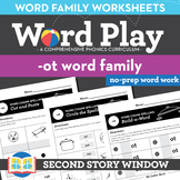 -Ot Word Family Worksheets No Prep Short Vowel O - Distanc