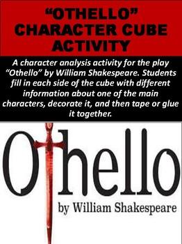 """Othello"" Character Cube Activity"