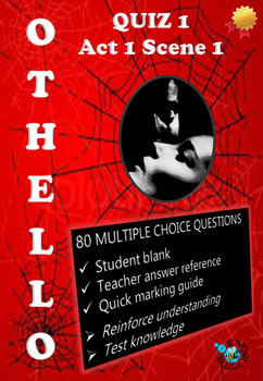 'Othello' by William Shakespeare - Quiz on Act 1 Scene 1