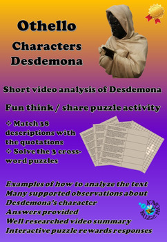 'Othello' by William Shakespeare - The character of Desdemona