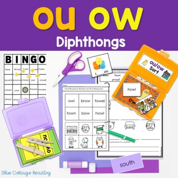 """Ouch!"" Said the Owl: ou and ow Phonics Unit"