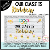 """""""Our Class is Golden"""" Back to School Bulletin Board or Doo"""