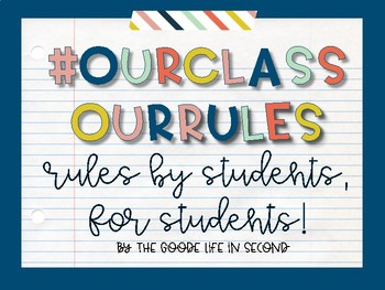 #OurClass #OurRules Classroom Rules Kit