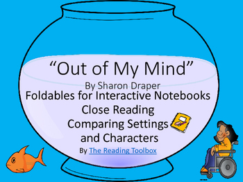"""""""Out of My Mind"""" Foldables  for Close Reading Comparing Characters and Settings"""