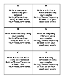 Vocabulary, Creative Writing, and QR Code Fun!