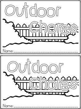 """Outdoor Chores"" An April/Spring Emergent Reader and Response Dollar Deal"
