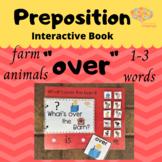 """Over"" Interactive Book + Simplified Sentence, Farm Animal"