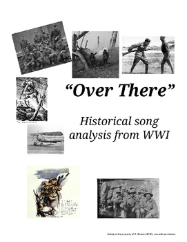 """""""Over There"""" WWI Song Analysis Activity"""